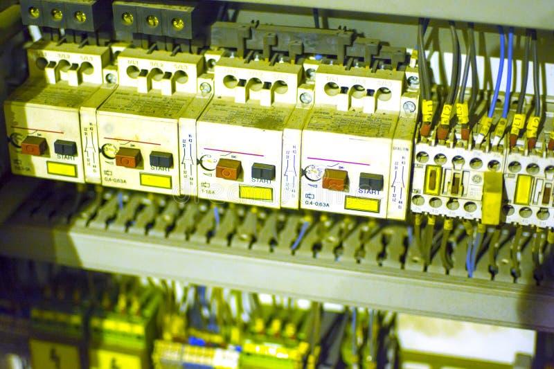 Cabina eléctrica Componentes del cuerpo de máquina del CNC fotos de archivo