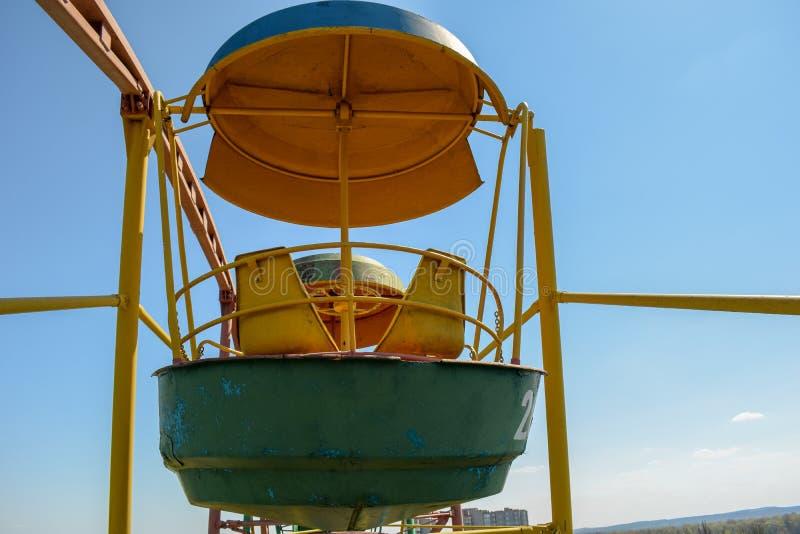 Cabina Ferris Wheel de la atracción imágenes de archivo libres de regalías