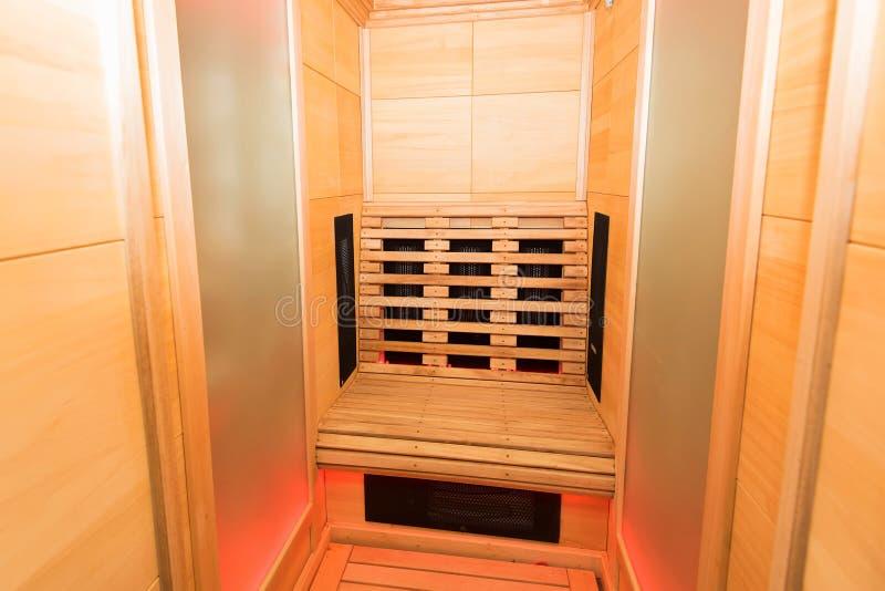 Cabina infrarossa di legno di Samm fotografia stock libera da diritti