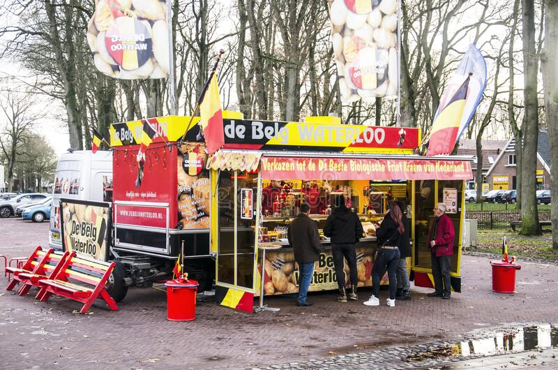 cabina per le patatine fritte immagine stock libera da diritti