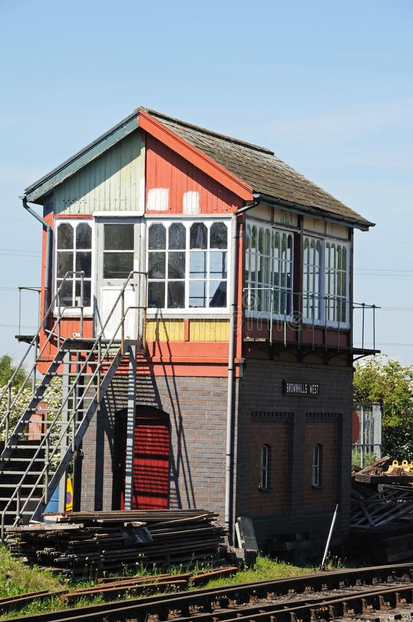 Cabina segnaletica ferroviaria fotografie stock libere da diritti