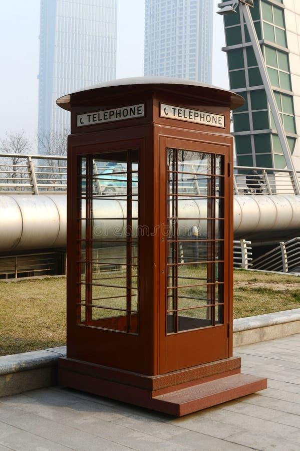 Cabina telefonica fotografia stock libera da diritti