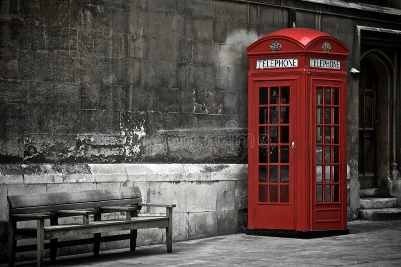 Cabina telefonica britannica fotografia stock