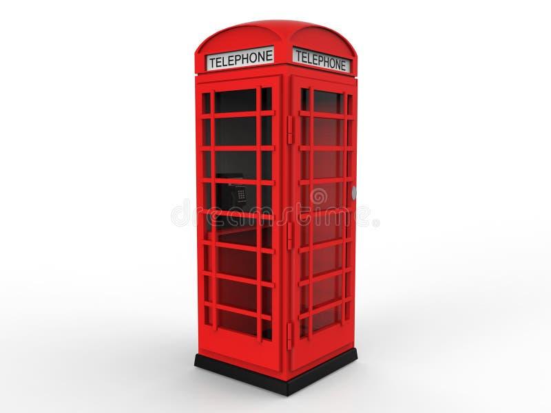 Cabina telefonica rossa royalty illustrazione gratis