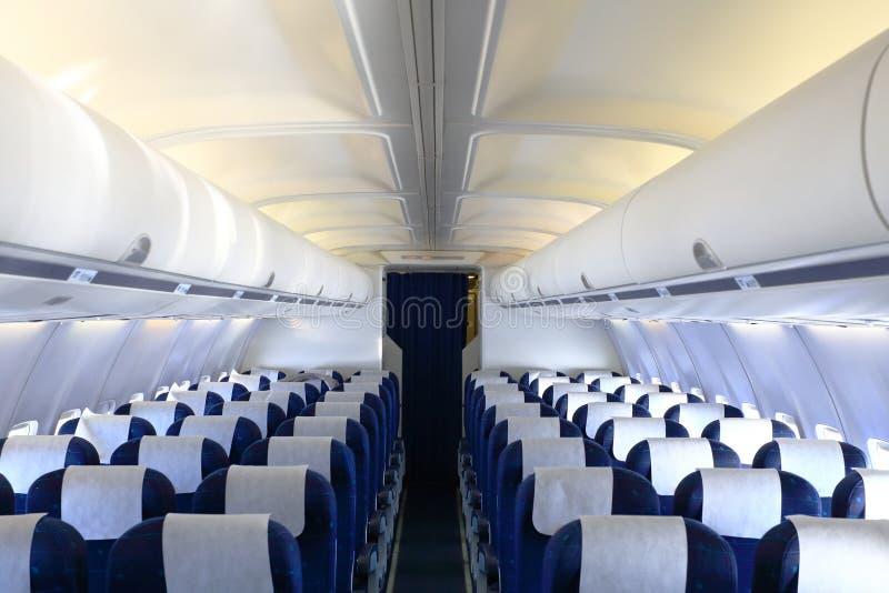 Cabina vacía del aeroplano imagenes de archivo
