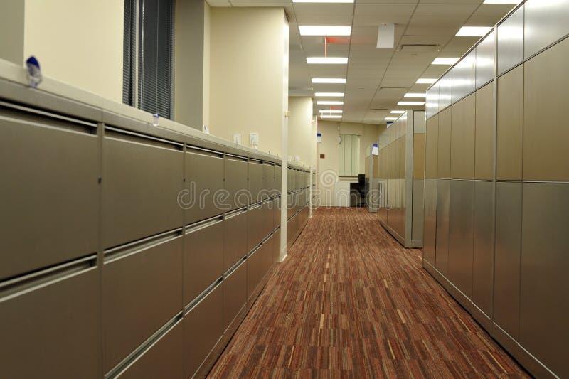 Cabinas de fichero de la oficina foto de archivo libre de regalías
