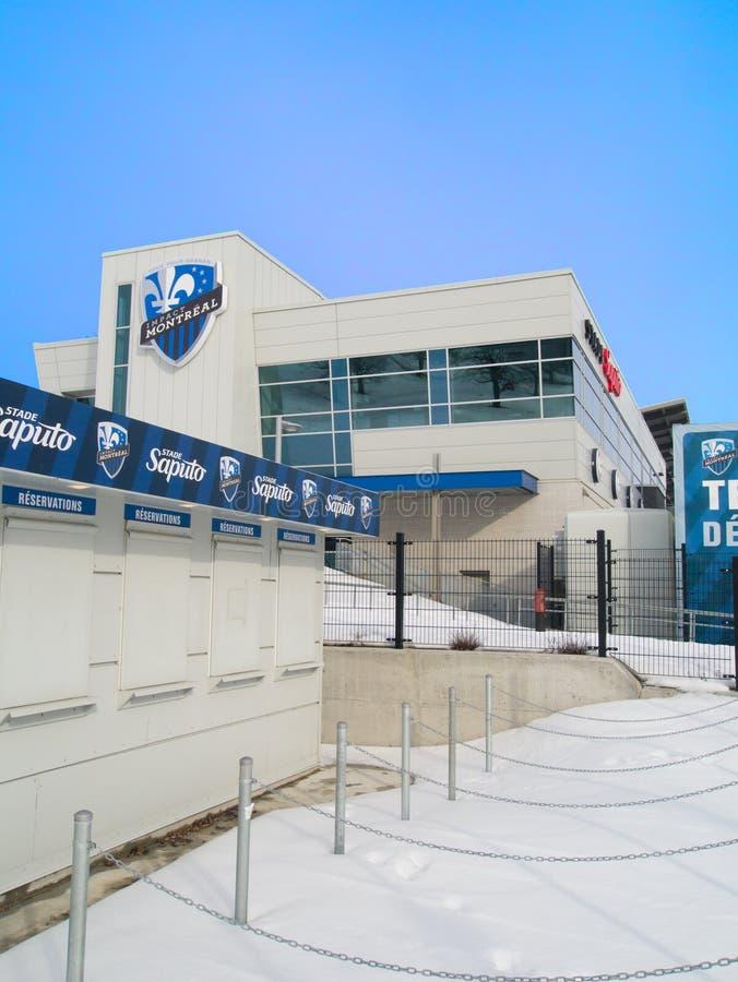 Estadio del equipo de fútbol del impacto de Montreal fotos de archivo libres de regalías
