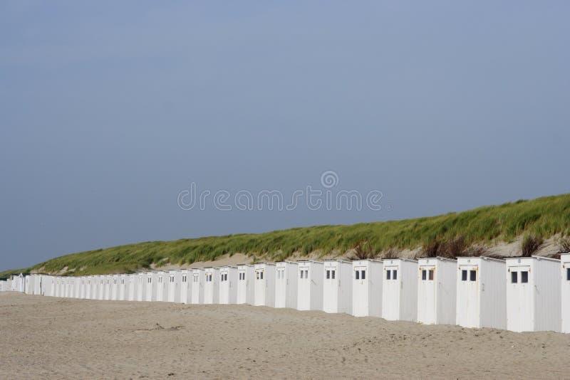Cabinas de la playa foto de archivo