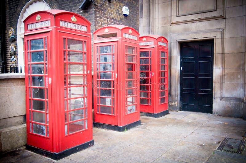 Cabinas del teléfono fotografía de archivo