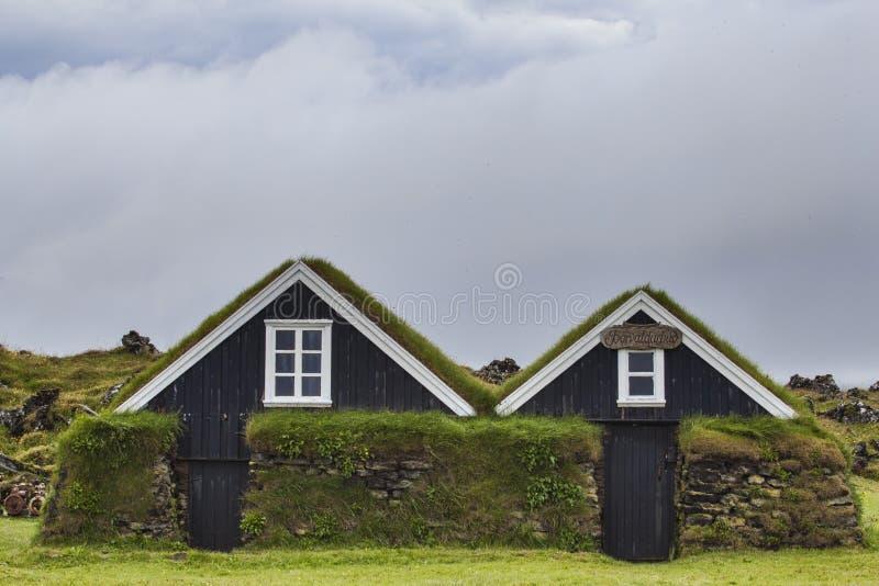 Cabinas típicas en Islandia, Rif, julio de 2014 fotos de archivo