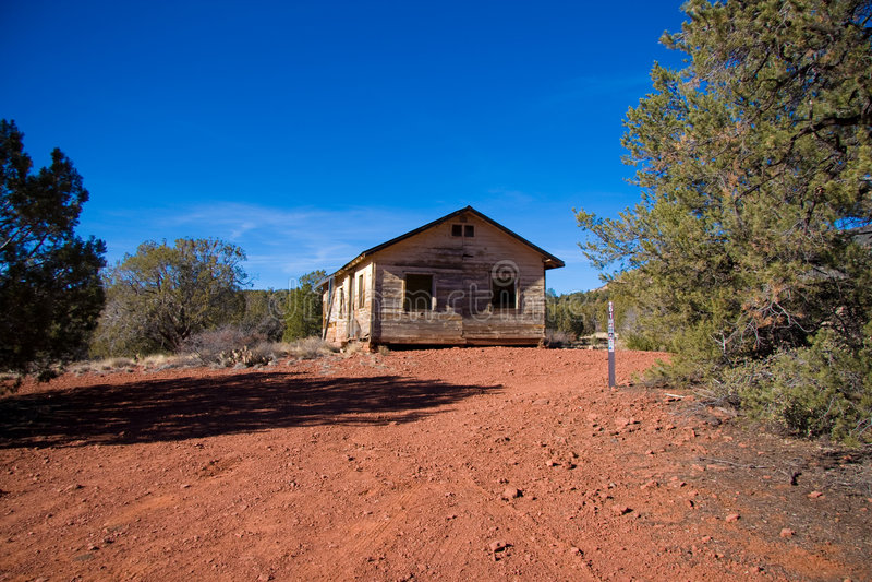 Cabine abandonnée de désert de l'Arizona images libres de droits
