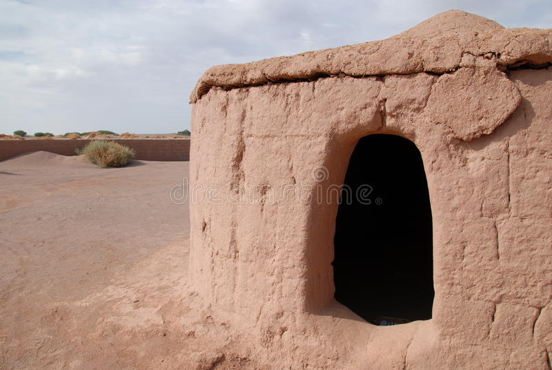 Cabine aborígene do pise no deserto de Atacama, o Chile imagem de stock royalty free