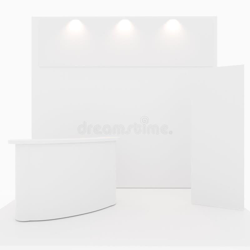 Cabine blanc d'exposition commerciale commerciale illustration de vecteur