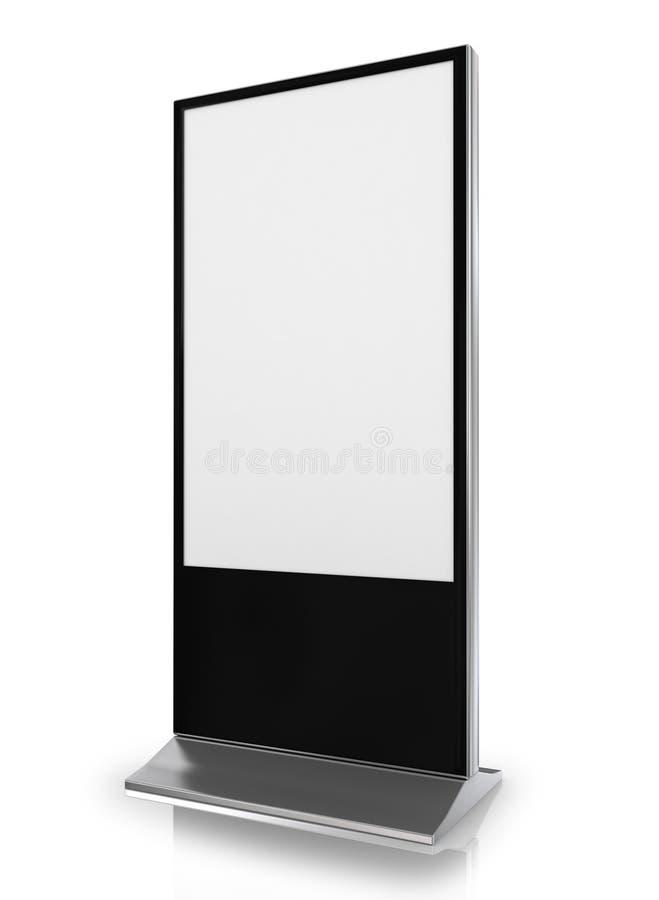 Cabine blanc d'exposition commerciale commerciale illustration stock