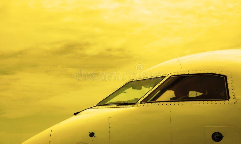 Cabine d'avion photographie stock