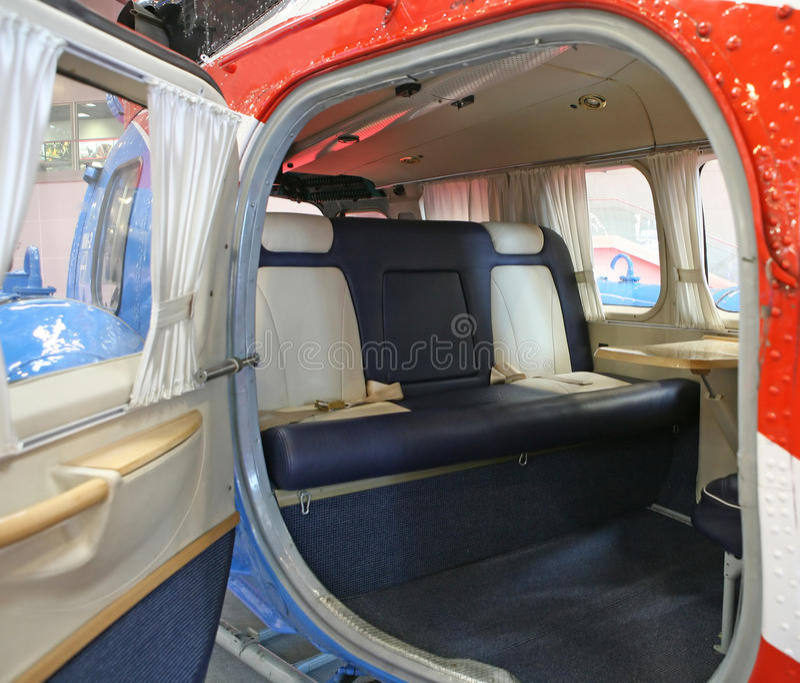 Cabine d'hélicoptère photos stock