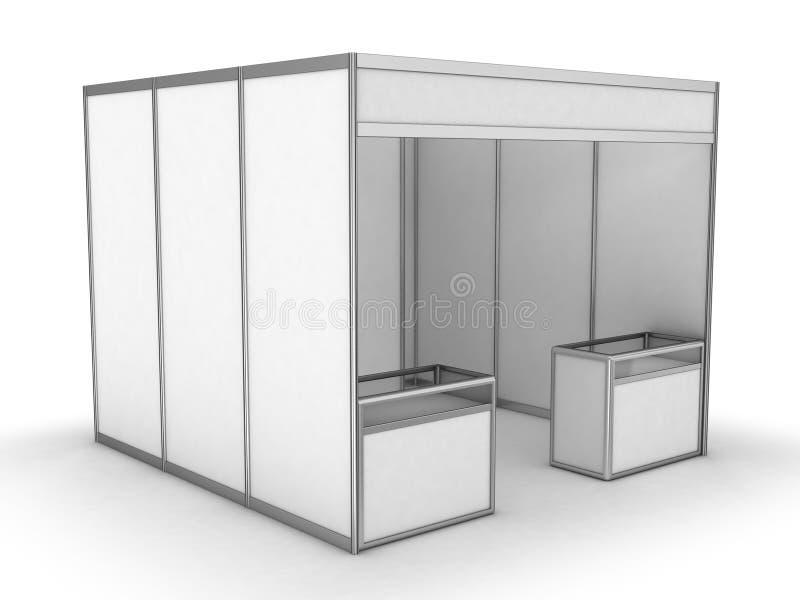 Cabine d'intérieur vide du commerce d'exposition illustration de vecteur