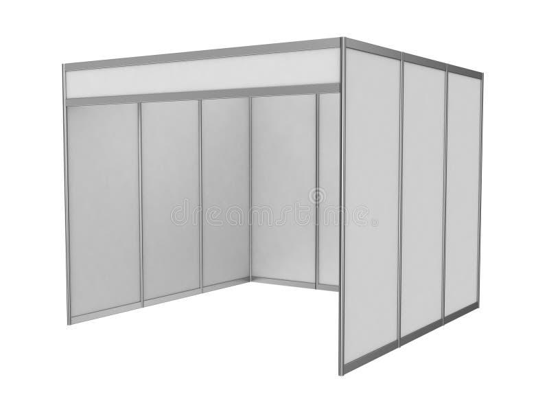 Cabine d'intérieur vide du commerce d'exposition illustration stock