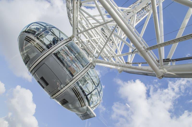 Cabine d'oeil de Londres images libres de droits