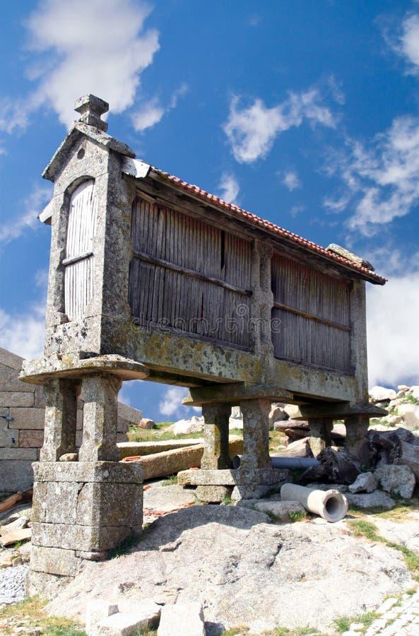 Cabine de huches de maïs, Portugal photos libres de droits