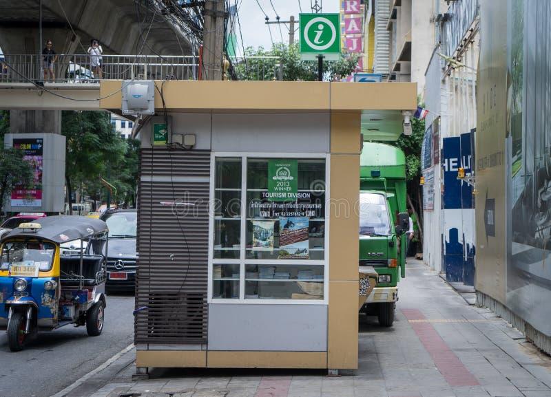 Cabine de informações turísticas de Banguecoque fotos de stock