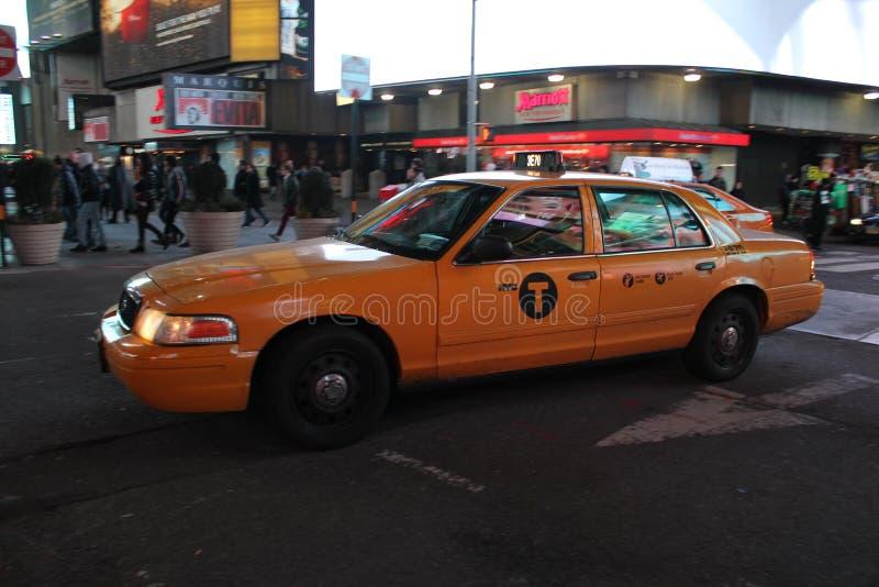 Cabine de jaune de New York photo stock