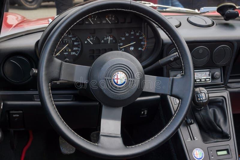 Cabine de l'alpha Romeo Spider de roadster photo libre de droits
