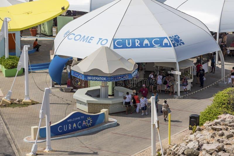 Cabine de l'information du Curaçao images libres de droits