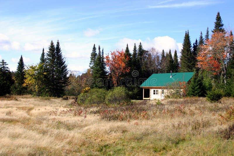Cabine de Northwoods - Maine imagens de stock royalty free