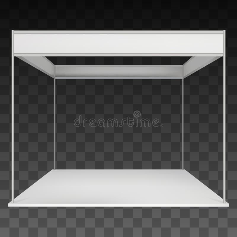 Cabine de salon commercial blanche et vide illustration stock