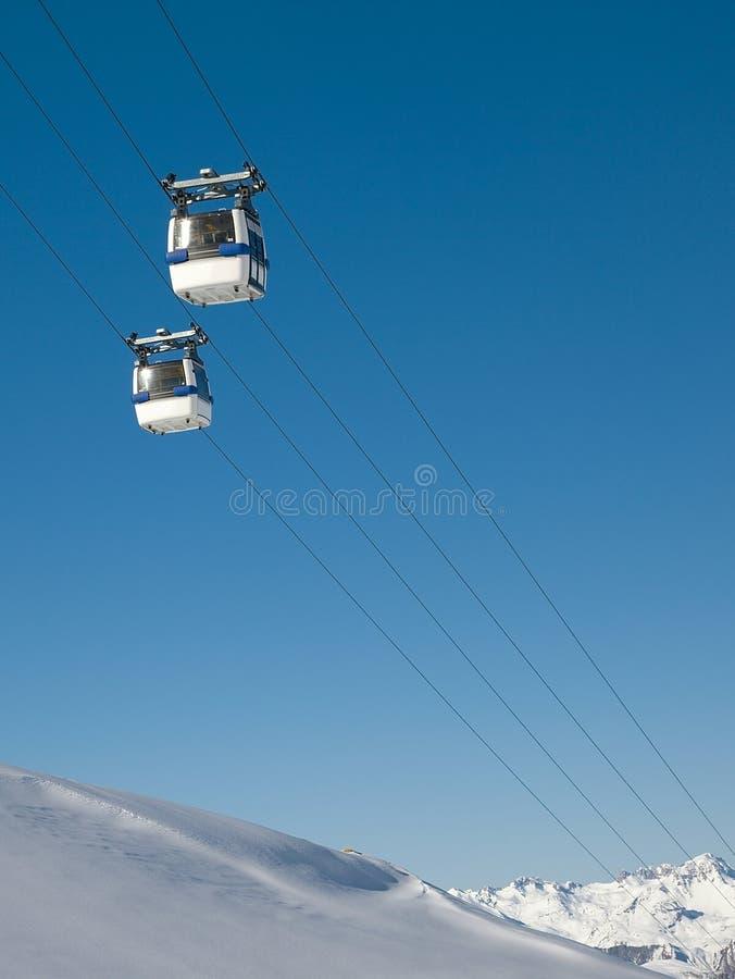 Cabine de ski images libres de droits