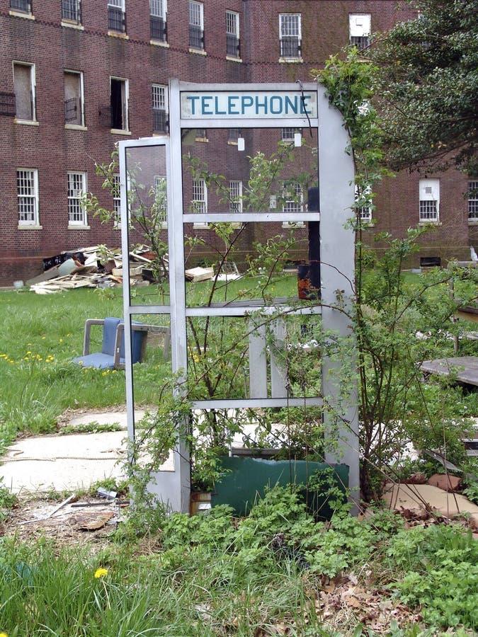 Cabine de téléphone image stock