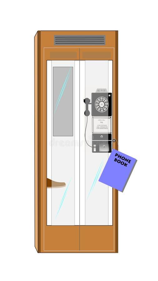 Cabine de téléphone illustration stock
