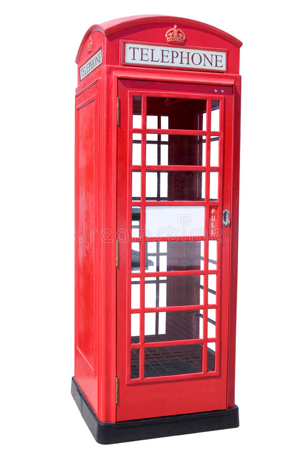 Cabine de téléphone rouge image libre de droits