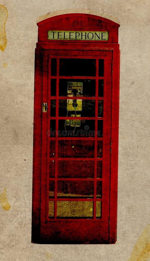 Cabine de telefone retro ilustração do vetor