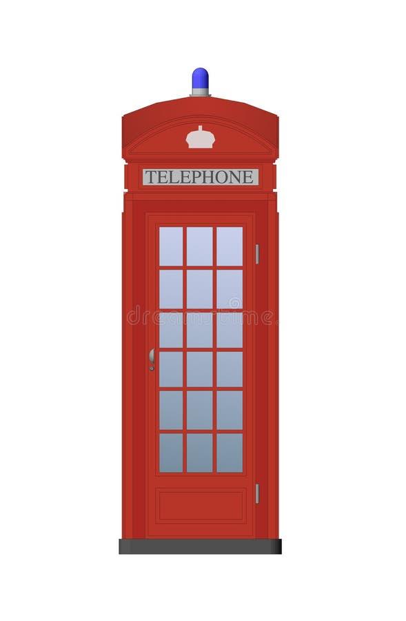 Cabine de telefone vermelha ilustração do vetor