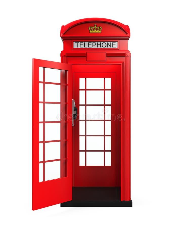 Cabine de telefone vermelha britânica ilustração royalty free