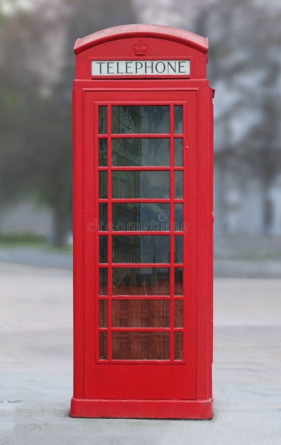 Cabine de telefone vermelha de Londres foto de stock royalty free