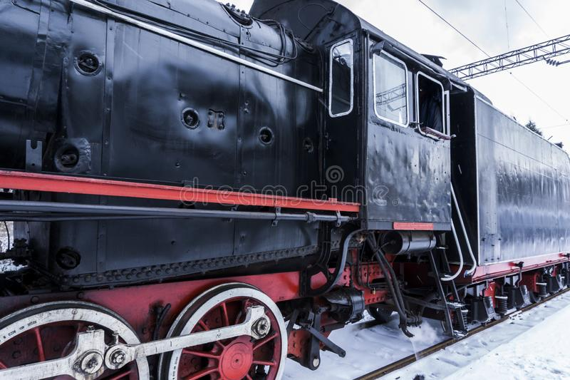 Cabine de vieille locomotive à vapeur photographie stock libre de droits
