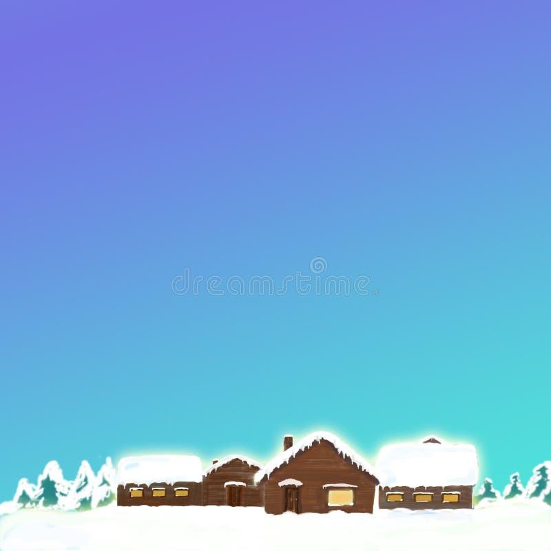 Cabine della neve illustrazione vettoriale