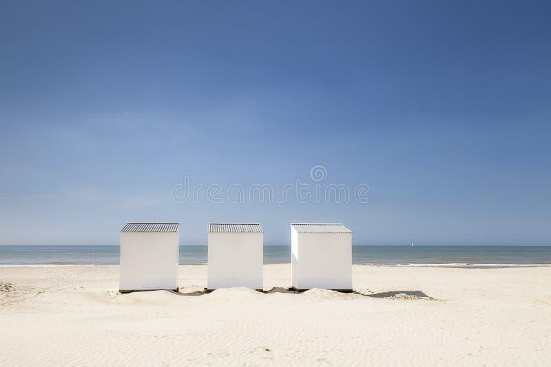 Cabine della spiaggia fotografie stock libere da diritti