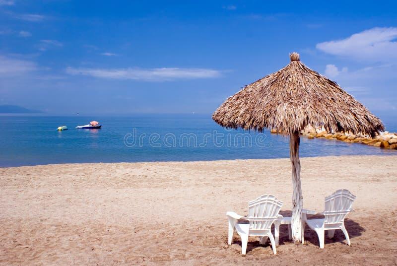 Cabine della spiaggia fotografia stock libera da diritti