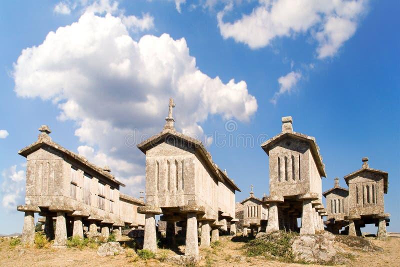Cabine delle castelle del cereale, Portogallo immagine stock