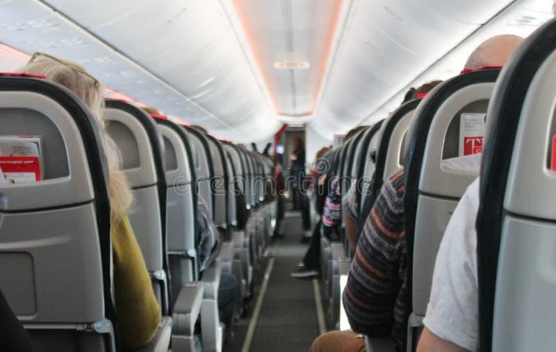 Cabine do avião imagem de stock