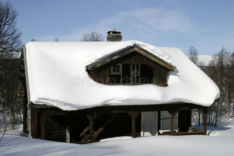 Cabine do inverno foto de stock