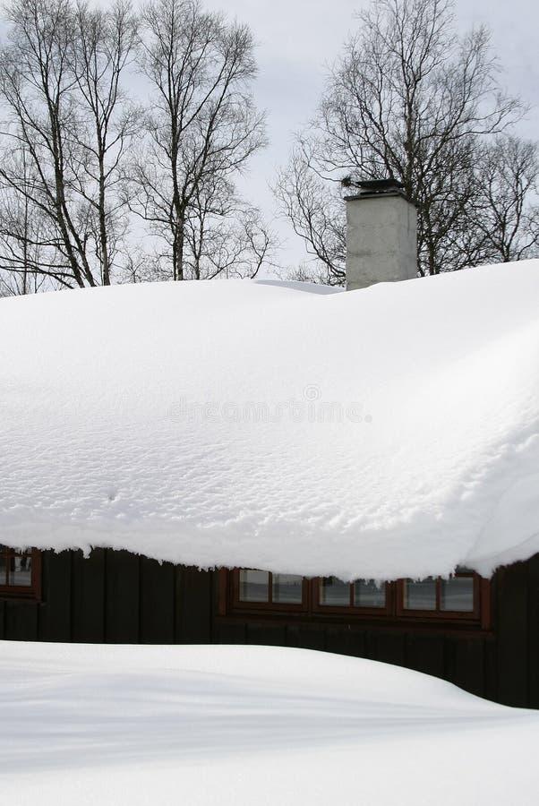 Download Cabine do inverno imagem de stock. Imagem de montanha, norueguês - 104231