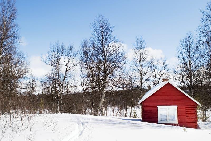 Cabine do inverno fotos de stock