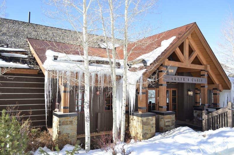 A cabine do ` s de Allie, Beaver Creek Ski Resort, Vail recorre, Colorado imagem de stock