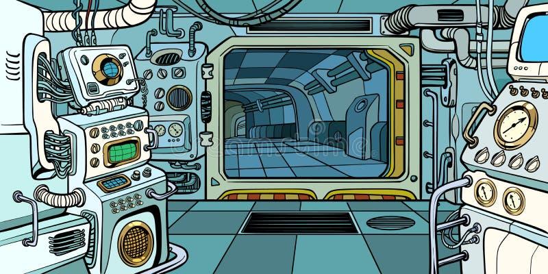 Cabine du vaisseau spatial illustration stock
