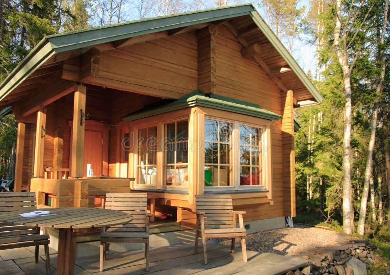 Cabine en bois photos stock